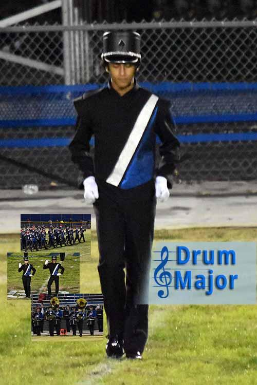 drum major collage